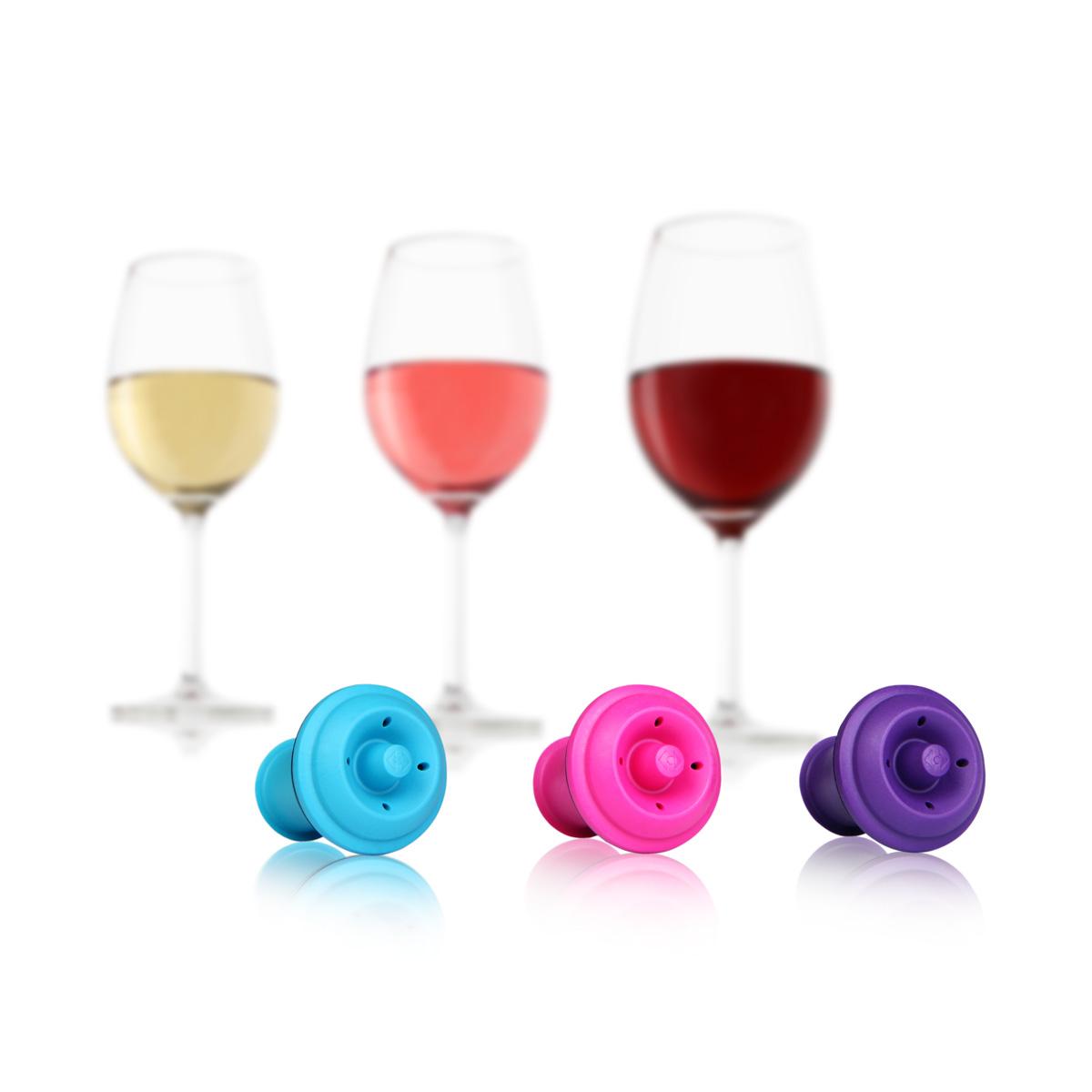 Вакуумные пробки для вина (цветные)